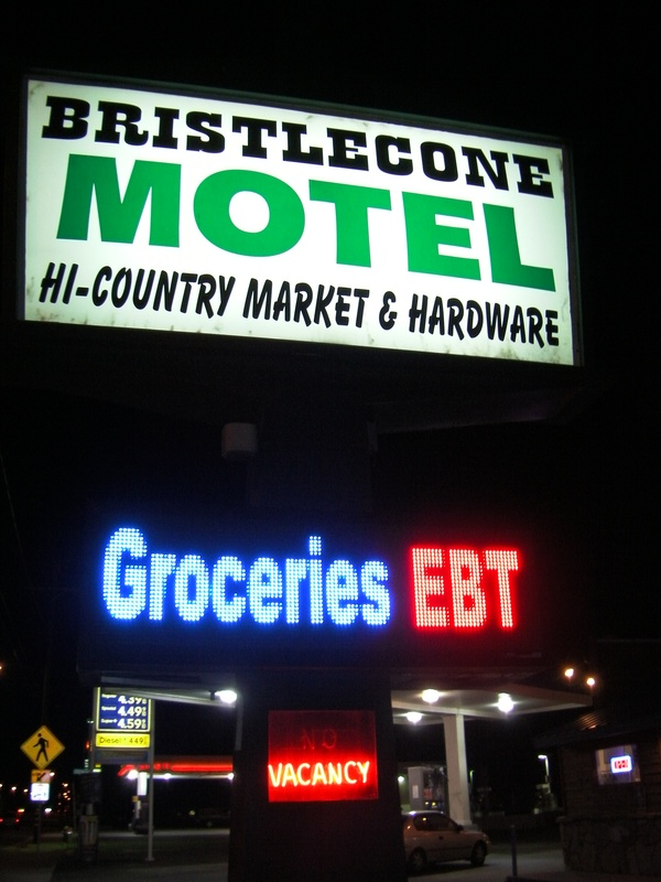 Bristlecone Motel and Hi-Country Market, 101 North Main Street, Big Pine, California , 93513